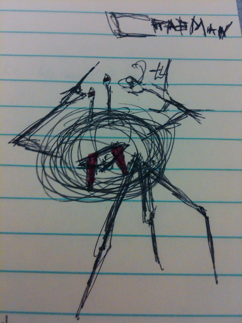 Stuff Journalists Doodle - crabman